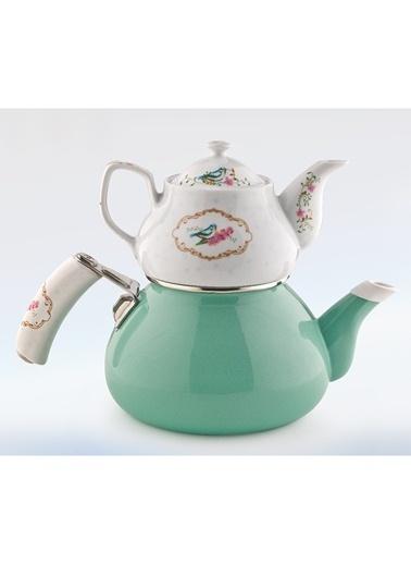 Schafer Stelle Porselen Çaydanlık Yeşil